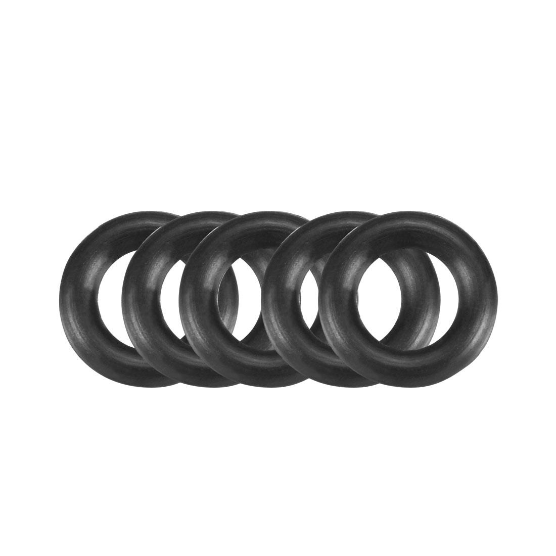 100Pcs Black 9 x 2mm Industrial Flexible Rubber O Ring Oil Sealing Grommets