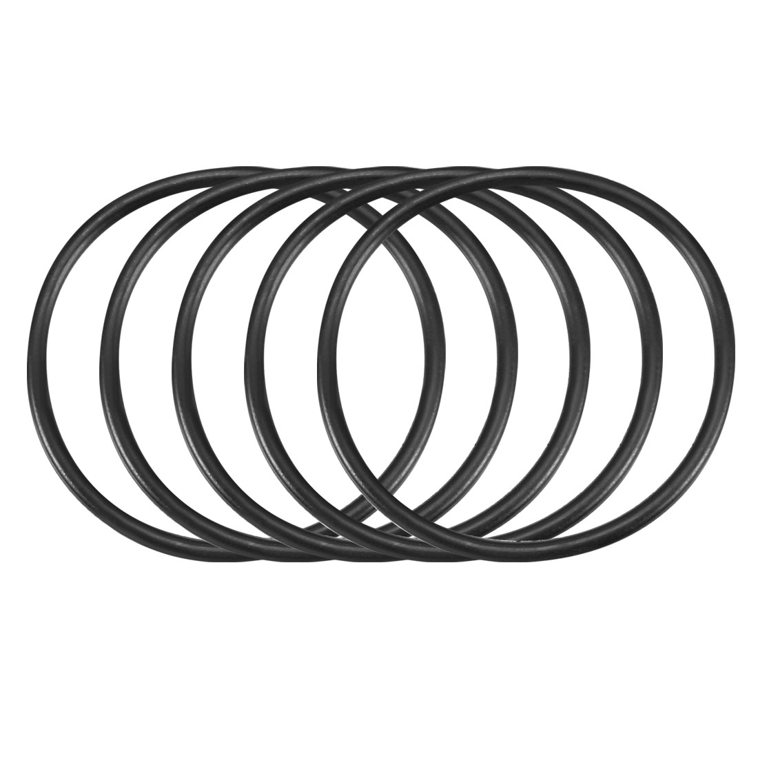 30Pcs Black 37 x 2mm Industrial Flexible Rubber O Ring Oil Sealing Grommets