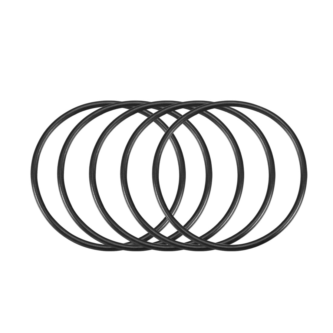 30Pcs Black 44 x 2mm Industrial Flexible Rubber O Ring Oil Sealing Grommets