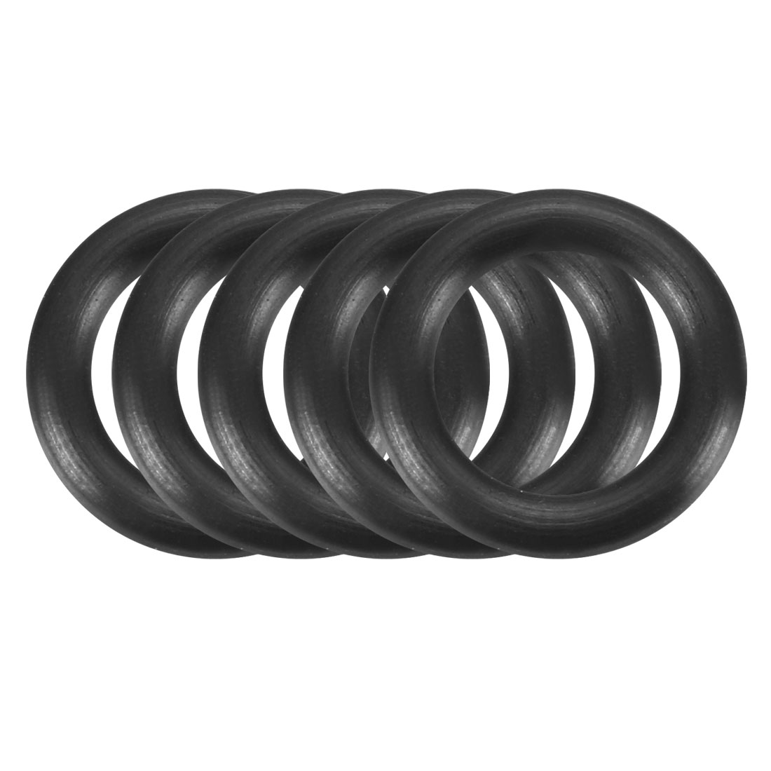 100 Pcs Black 11mm x 2mm Rubber Oil Resistant Sealing Ring O-shape Grommets