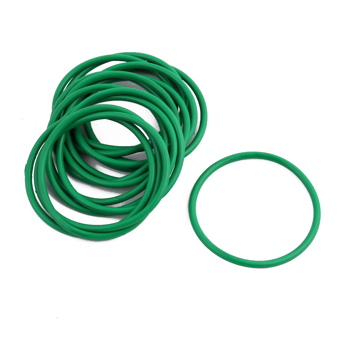 15 Pcs Green 34mm x 1.9mm NBR Oil Resistant Sealing Ring O-shape Grommets