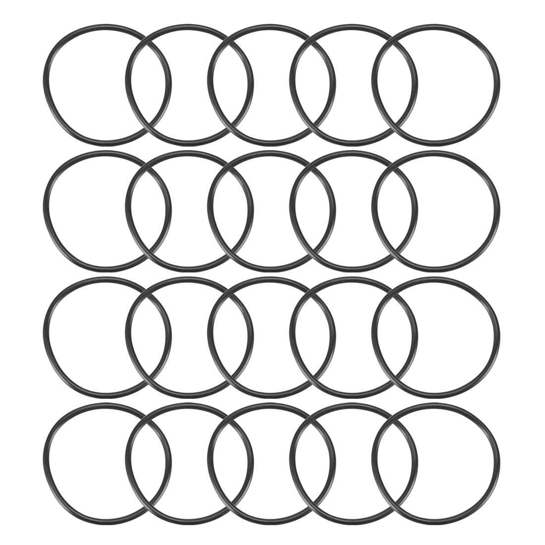20Pcs Black 37mm Dia 2mm Thickness Nitrile Rubber O Ring NBR Sealing Grommets