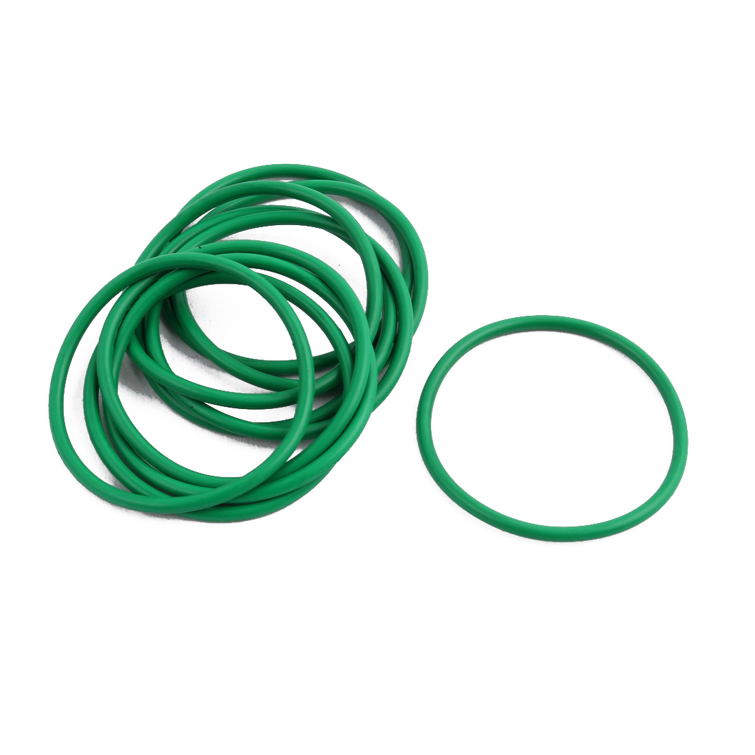 10Pcs Green 34 x 1.9mm Industrial Flexible Rubber O Ring Oil Sealing Grommets