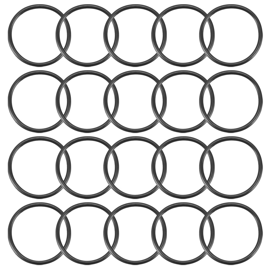 20Pcs Black 29mm Dia 2mm Thickness Nitrile Rubber O Ring NBR Sealing Grommets
