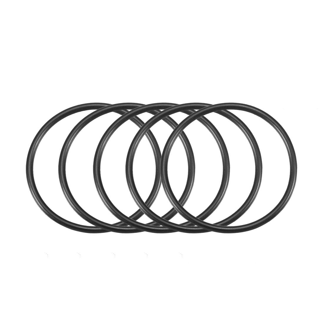 50Pcs Black 35 x 2mm Industrial Flexible Rubber O Ring Oil Sealing Grommets