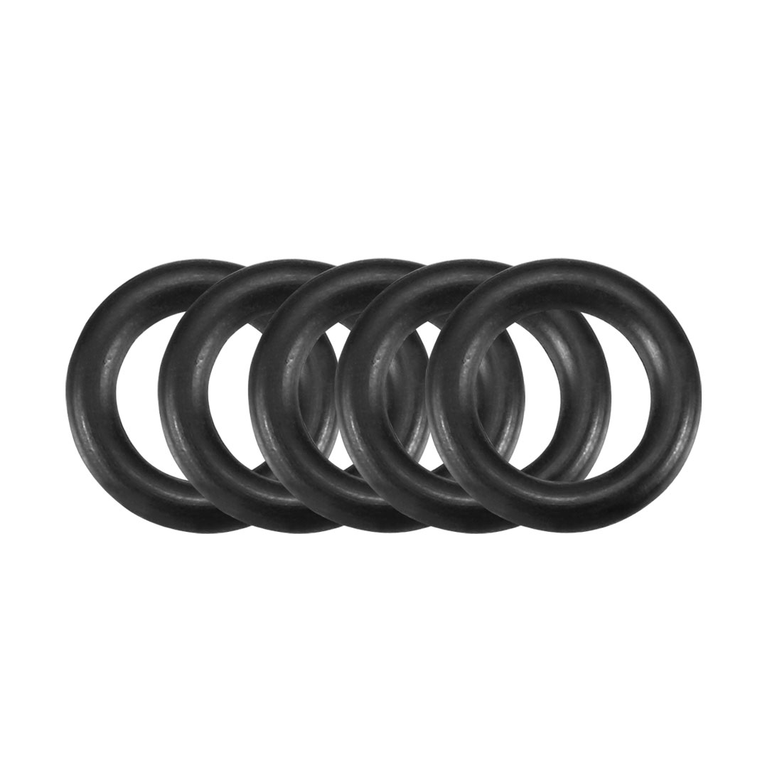 30Pcs Black 10mm Dia 2mm Thickness Nitrile Rubber O Ring NBR Sealing Grommets