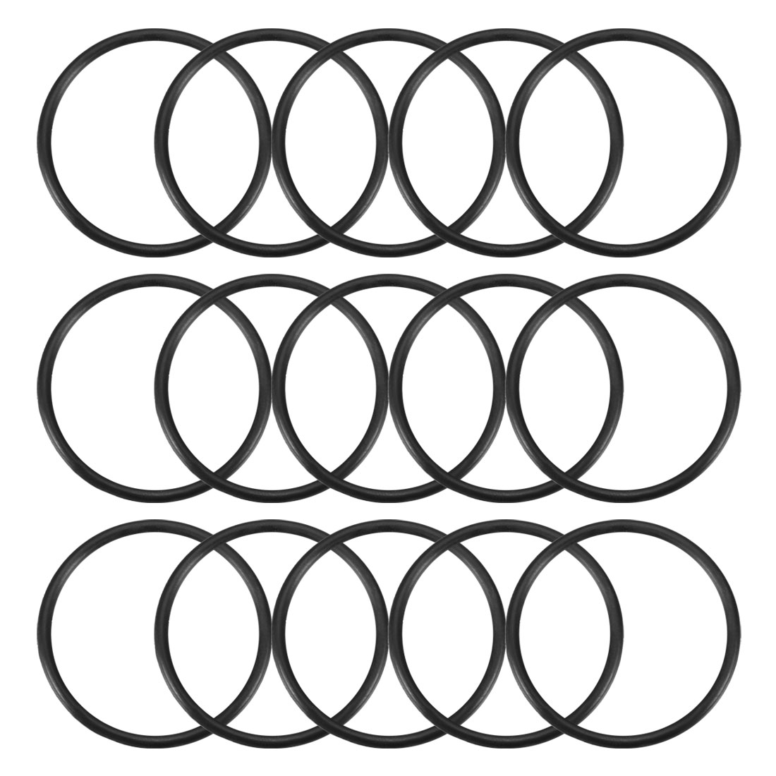 15Pcs Black 33mm Dia 2mm Thickness Nitrile Rubber O Ring NBR Sealing Grommets