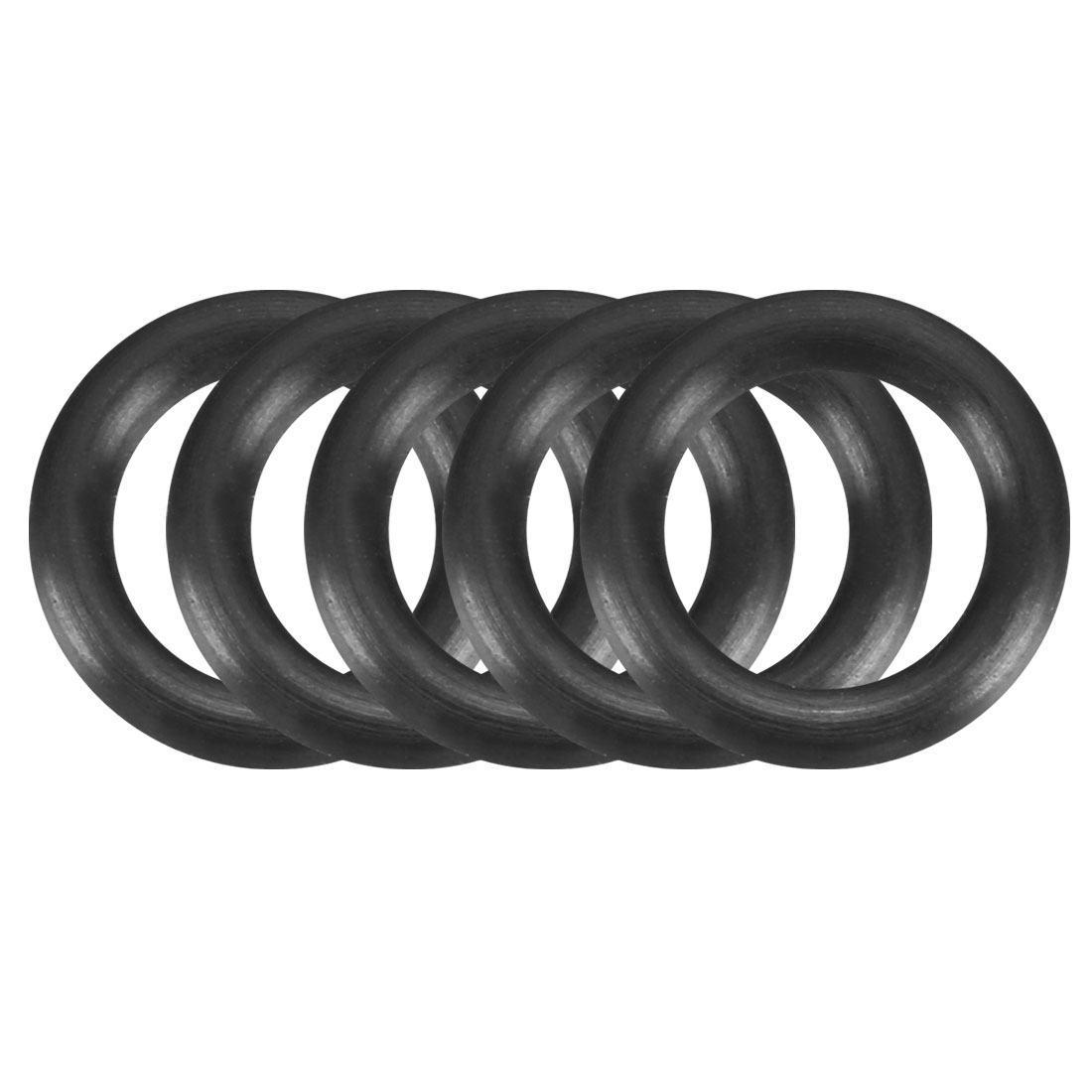 50Pcs Black 11mm Dia 2mm Thickness Nitrile Rubber O Ring NBR Sealing Grommets