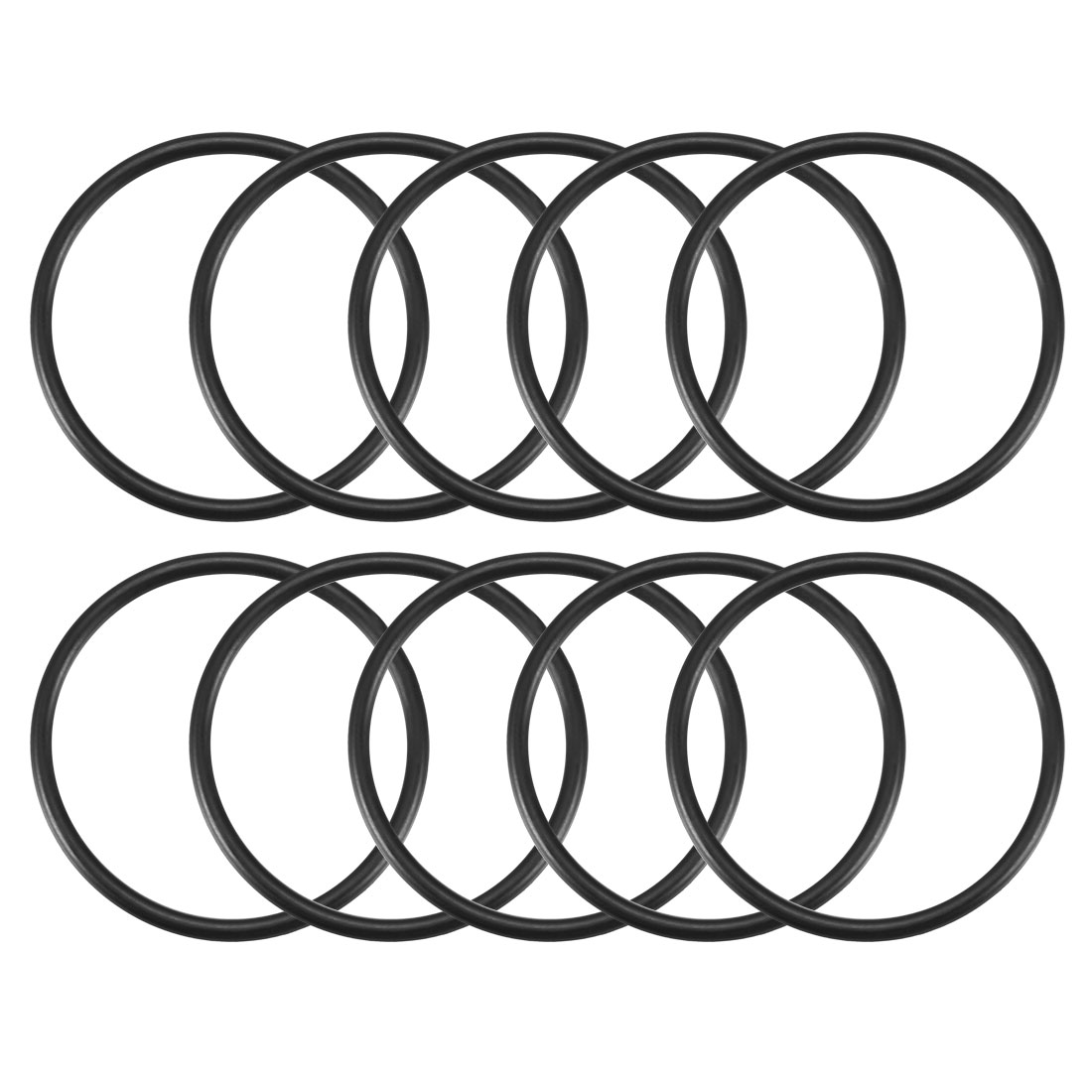 10 Pcs Black 35mm x 2mm NBR Oil Resistant Sealing Ring O-shape Grommets