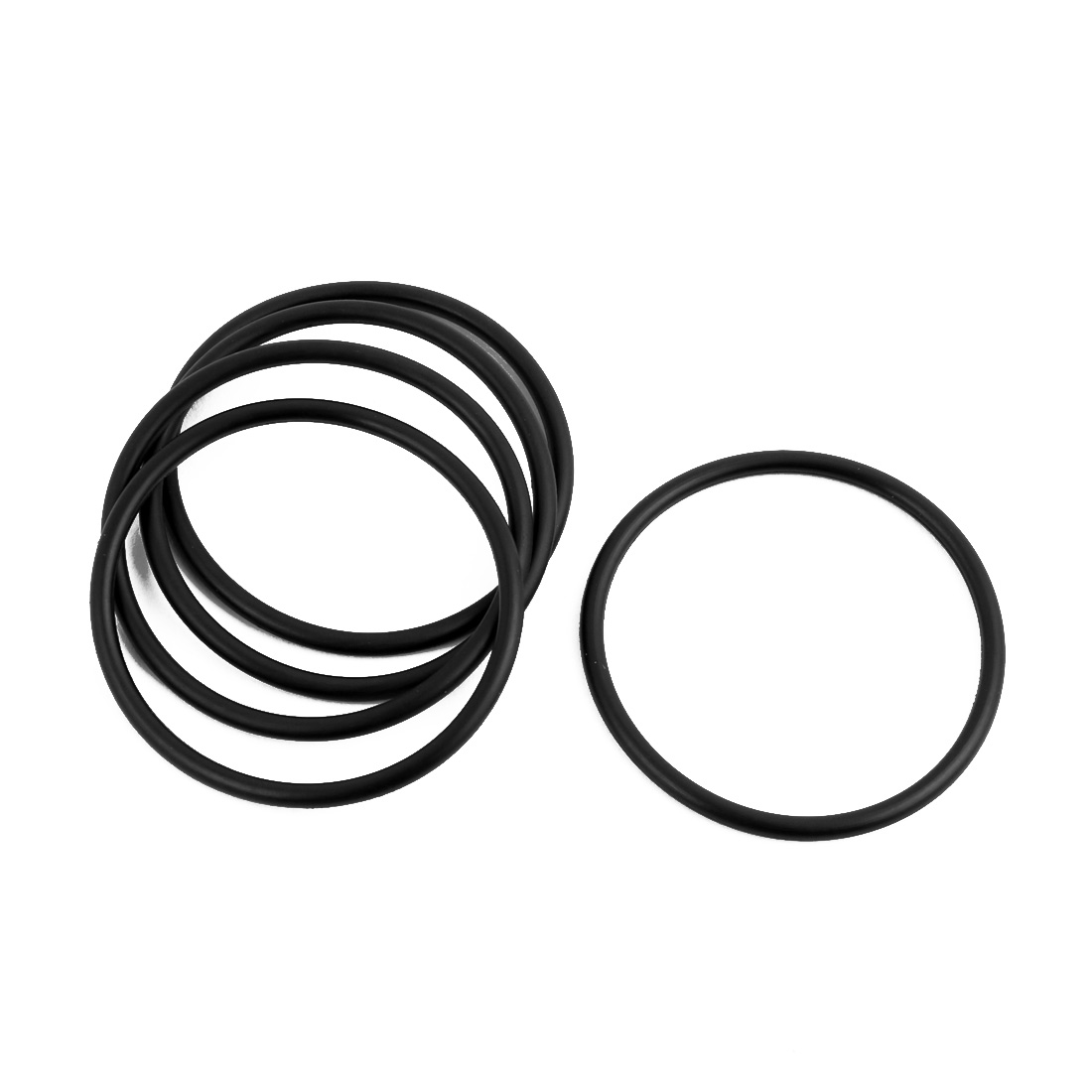 5Pcs Black 36 x 2mm Industrial Flexible Rubber O Ring Oil Sealing Grommets