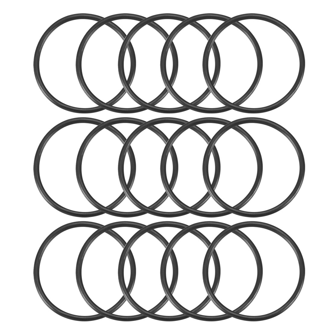 15 Pcs 34mm x 2mm Rubber Oil Resistant Sealing Ring O-shape Spacers