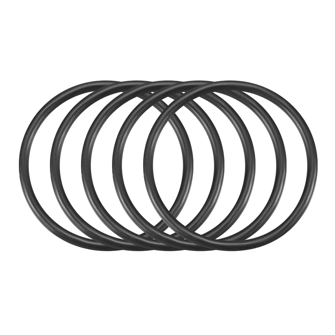50Pcs Black 30mm Dia 2mm Thickness Flexible Rubber O Ring NBR Sealing Grommets