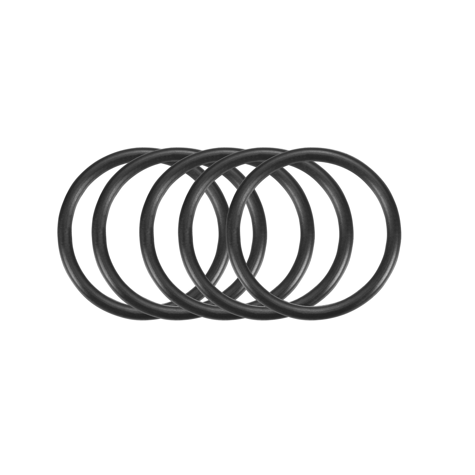 50Pcs Black 24 x 2mm Industrial Flexible Rubber O Ring Oil Sealing Grommets