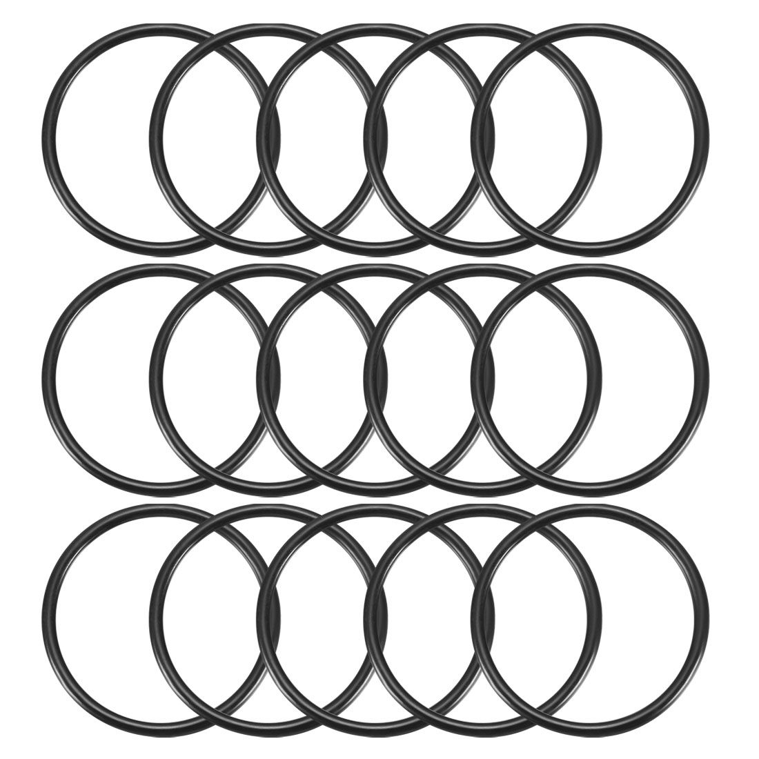 15Pcs Black 30mm Dia 2mm Thickness Nitrile Rubber O Ring NBR Sealing Grommets