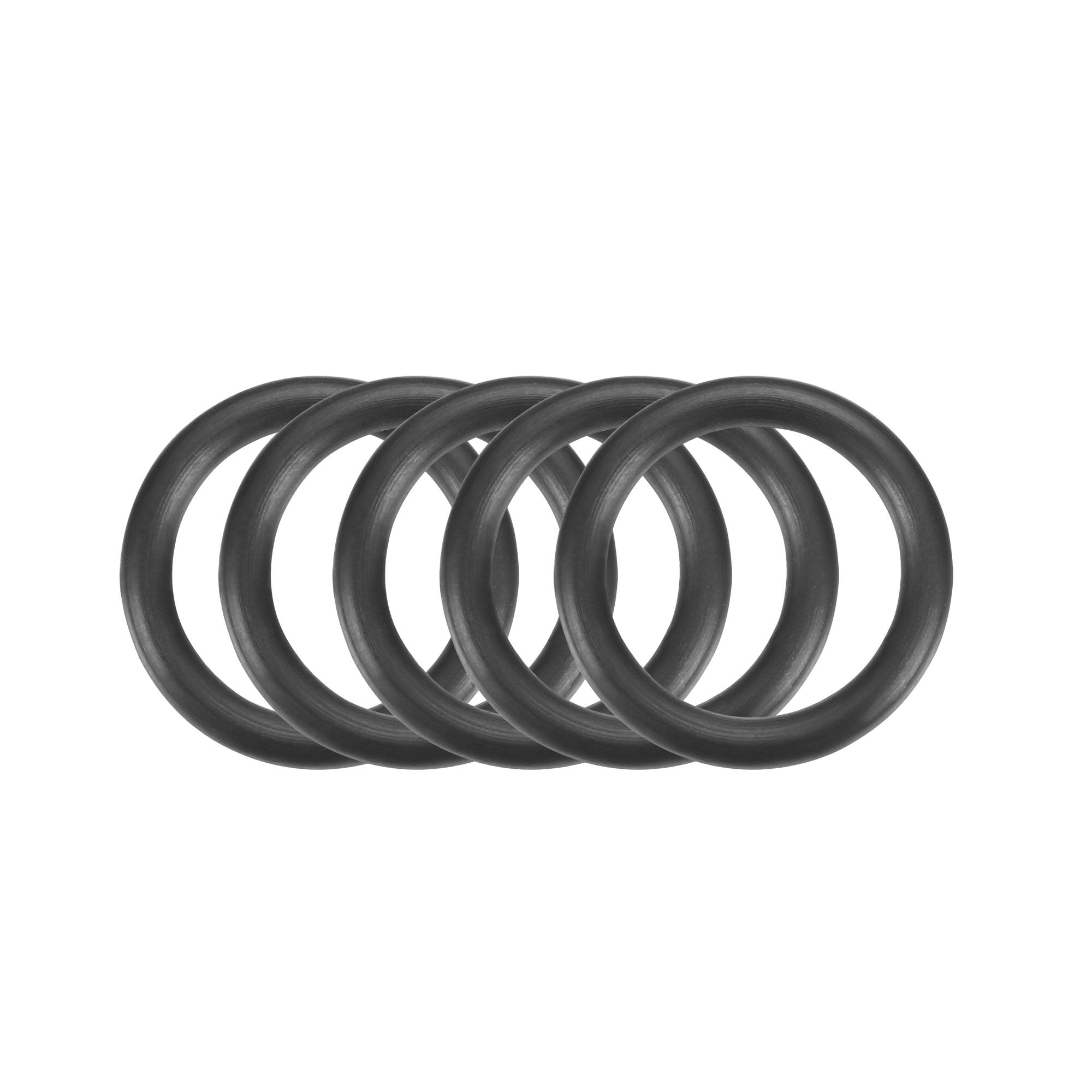 50 Pcs Black 15mm x 2mm Rubber Oil Resistant Sealing Ring O-shape Grommets
