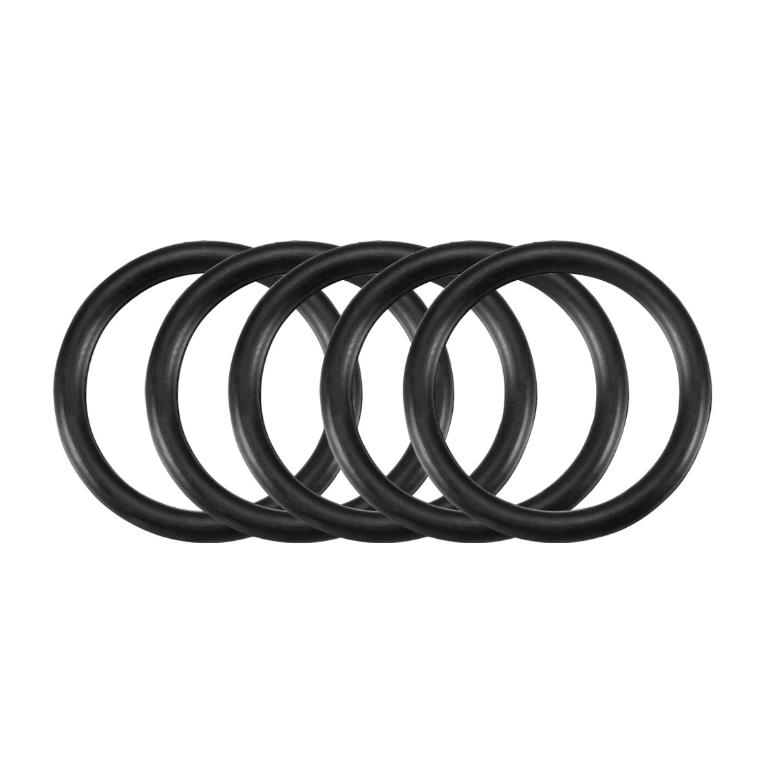 30Pcs Black 18 x 2mm Industrial Flexible Rubber O Ring Oil Sealing Grommets