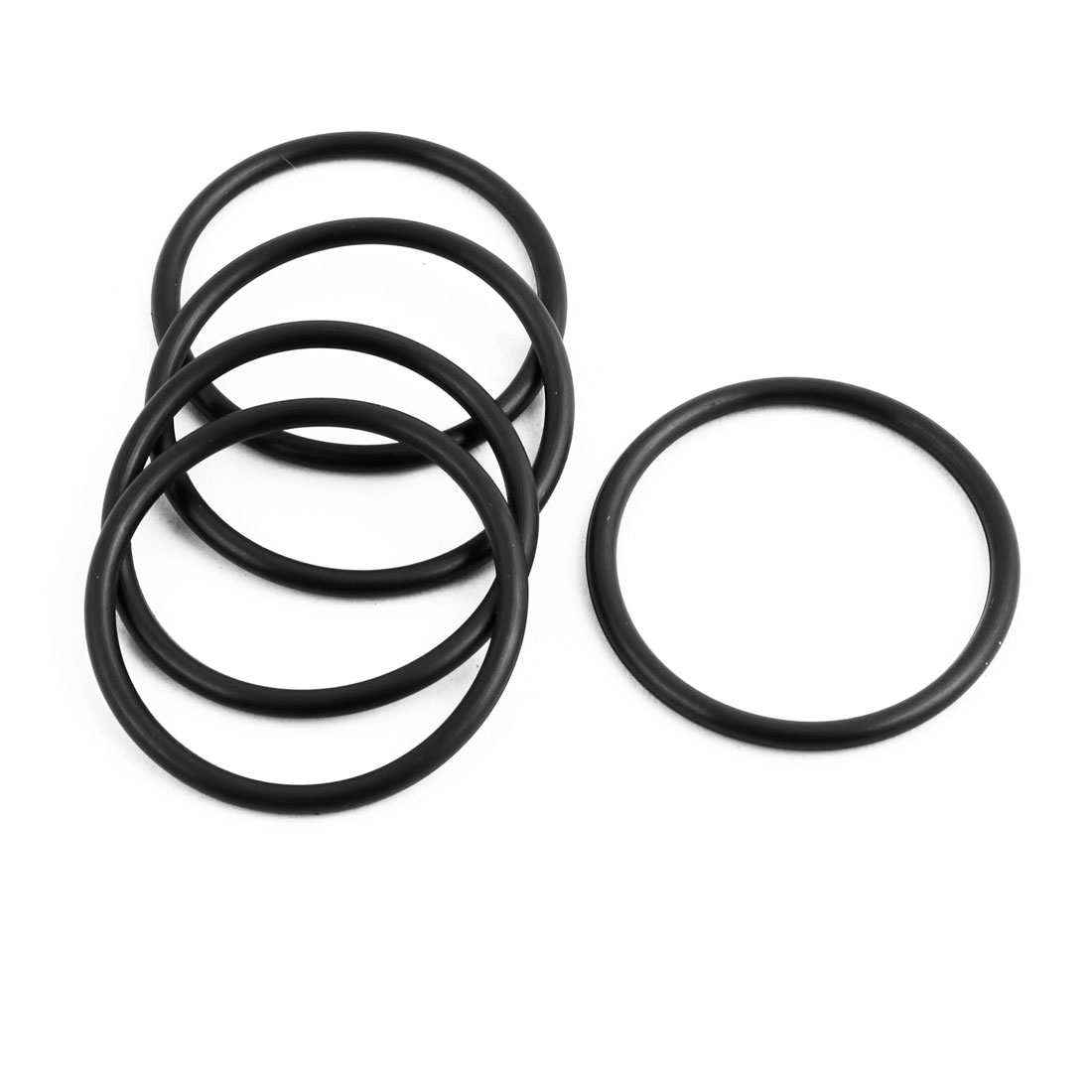 5Pcs Black 30 x 2mm Industrial Flexible Rubber O Ring Oil Sealing Grommets