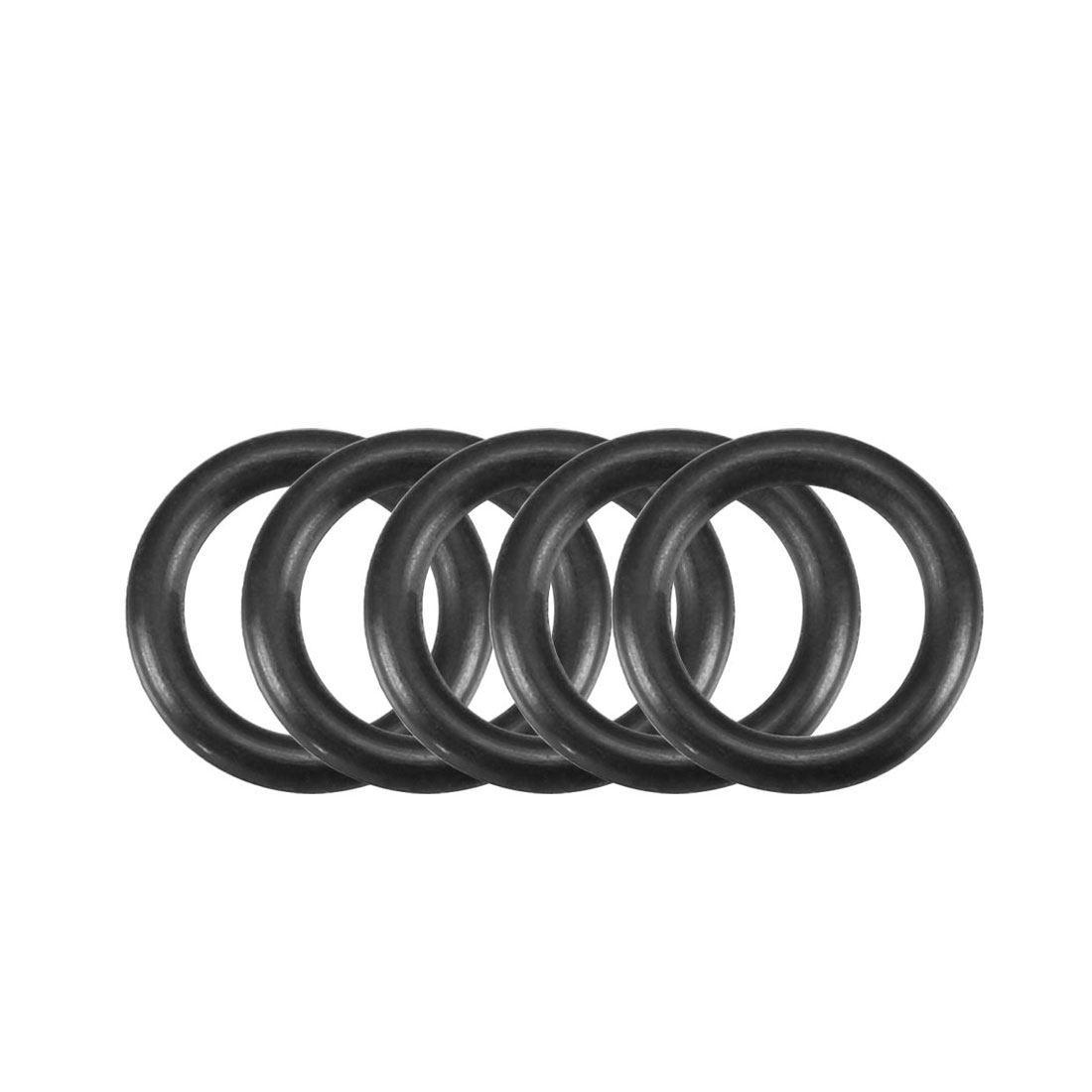 30Pcs Black 12mm Dia 2mm Thickness Nitrile Rubber O Ring NBR Sealing Grommets