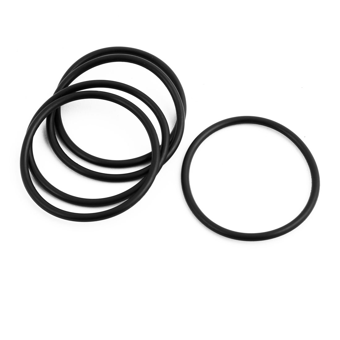 5Pcs Black 33 x 2mm Industrial Flexible Rubber O Ring Oil Sealing Grommets