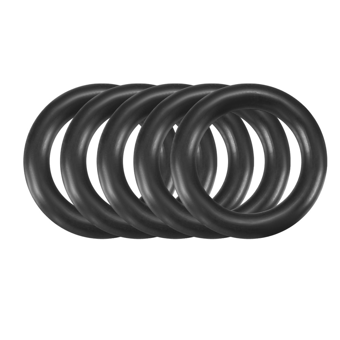 30Pcs Black 11 x 2mm Industrial Flexible Rubber O Ring Oil Sealing Grommets