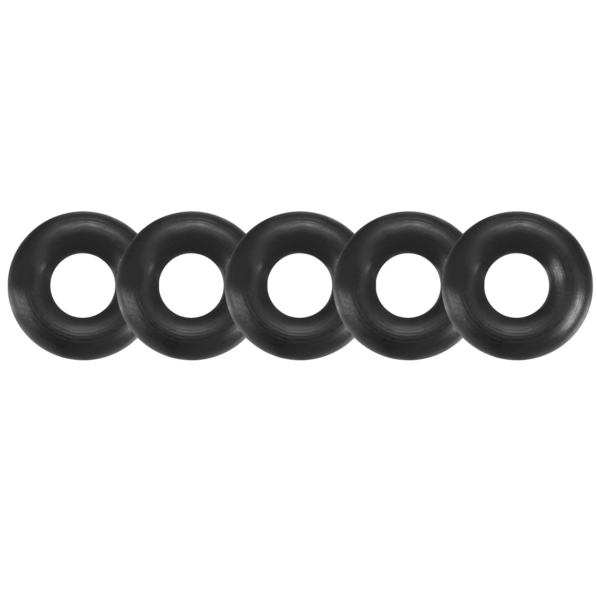 50 Pcs Black 6.5mm x 2mm Rubber Oil Resistant Sealing Ring O-Type Grommets
