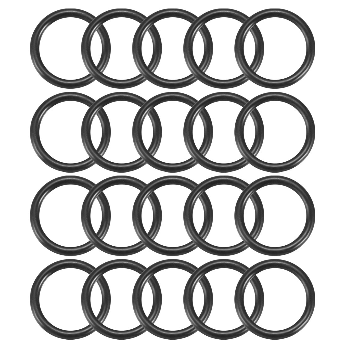 20Pcs Black 16mm Dia 2mm Thickness Nitrile Rubber O Ring NBR Sealing Grommets