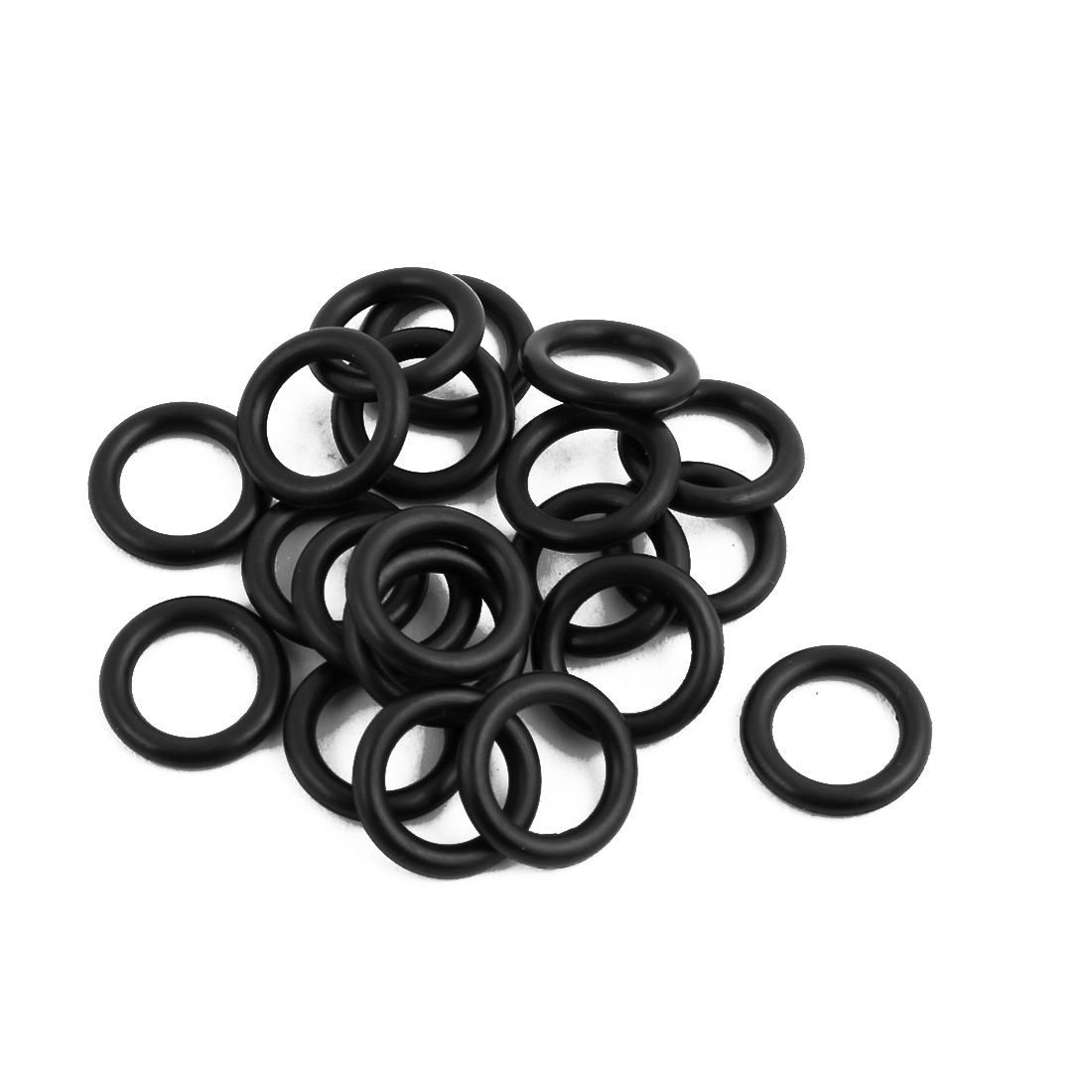 20Pcs Black 12mm Dia 2mm Thickness Nitrile Rubber O Ring NBR Sealing Grommets