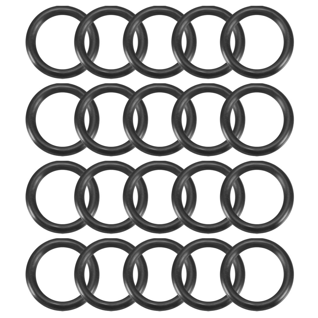 20Pcs Black 14mm Dia 2mm Thickness Nitrile Rubber O Ring NBR Sealing Grommets