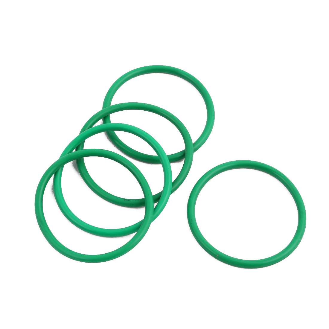 5Pcs Green 28 x 1.9mm Industrial Flexible Rubber O Ring Oil Sealing Grommets
