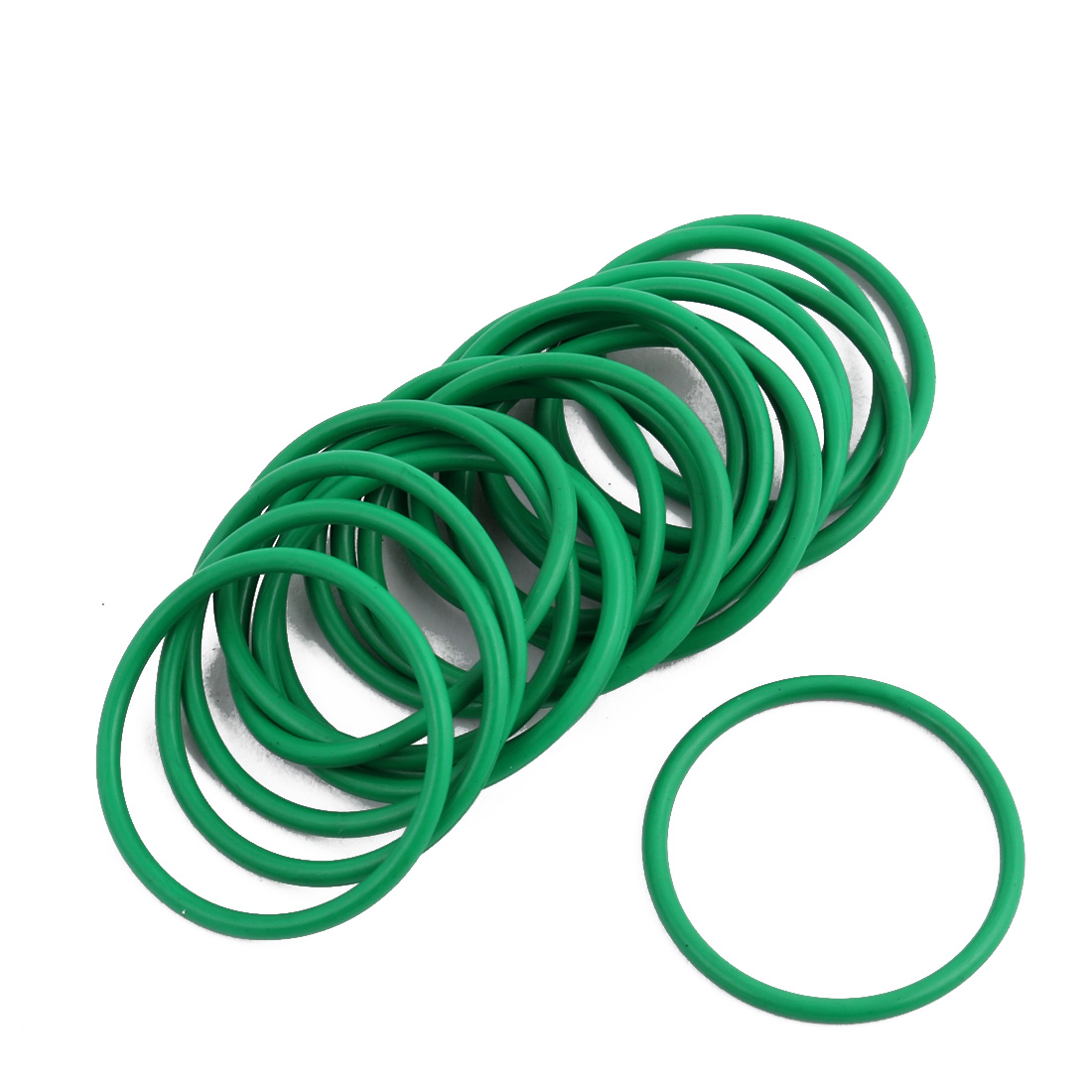 20Pcs Green 29 x 1.9mm Industrial Flexible Rubber O Ring Oil Sealing Grommets