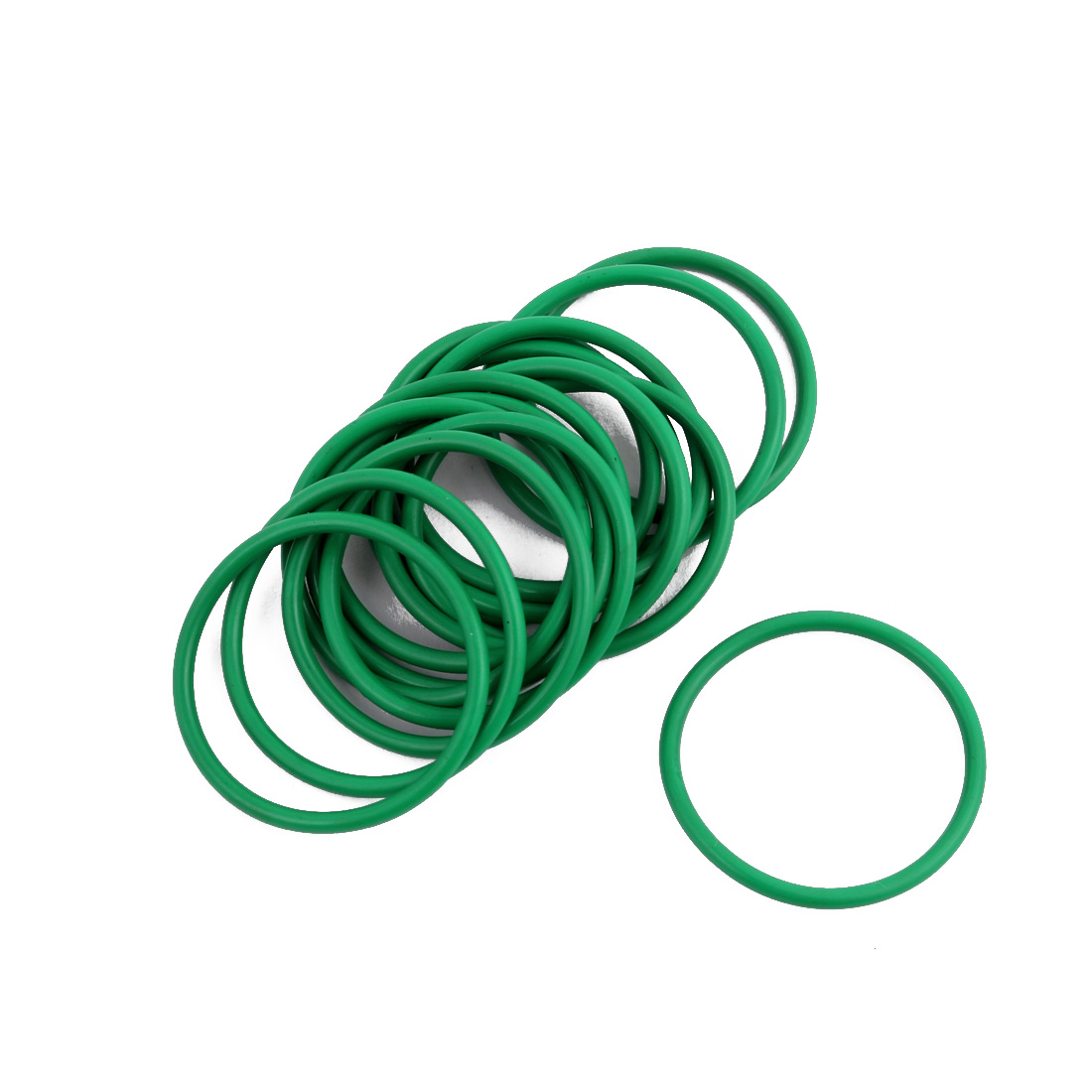 15Pcs Green 30 x 1.9mm Industrial Flexible Rubber O Ring Oil Sealing Grommets
