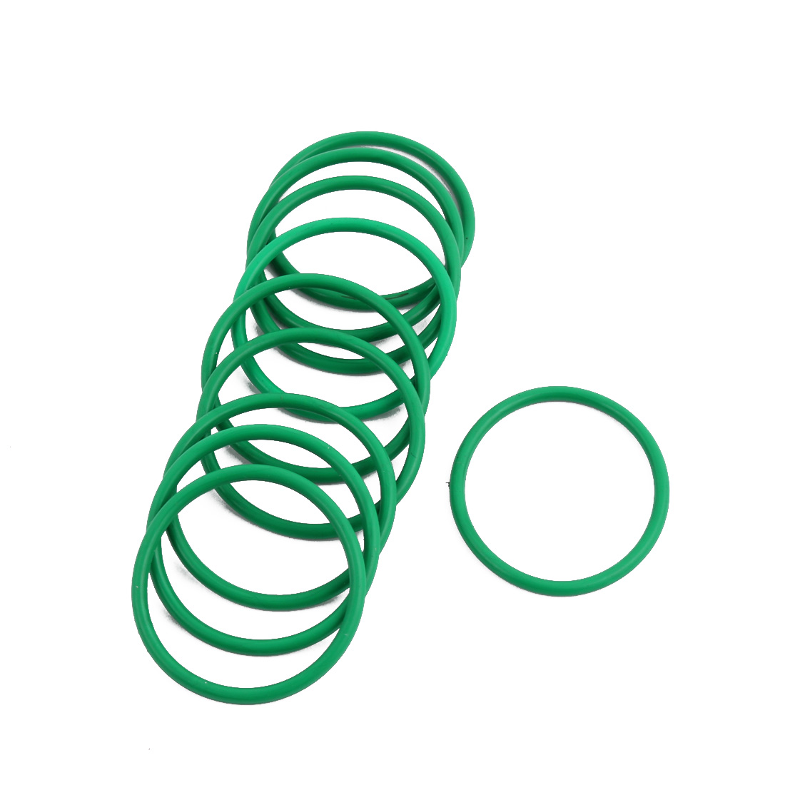 10Pcs Green 28 x 1.9mm Industrial Flexible Rubber O Ring Oil Sealing Grommets