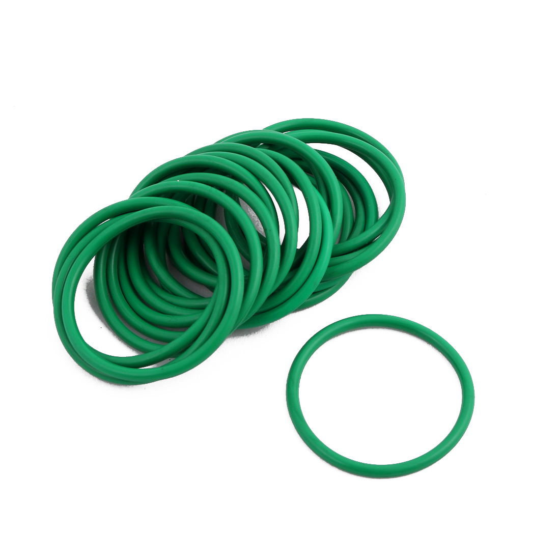 20Pcs Green 28 x 1.9mm Industrial Flexible Rubber O Ring Oil Sealing Grommets