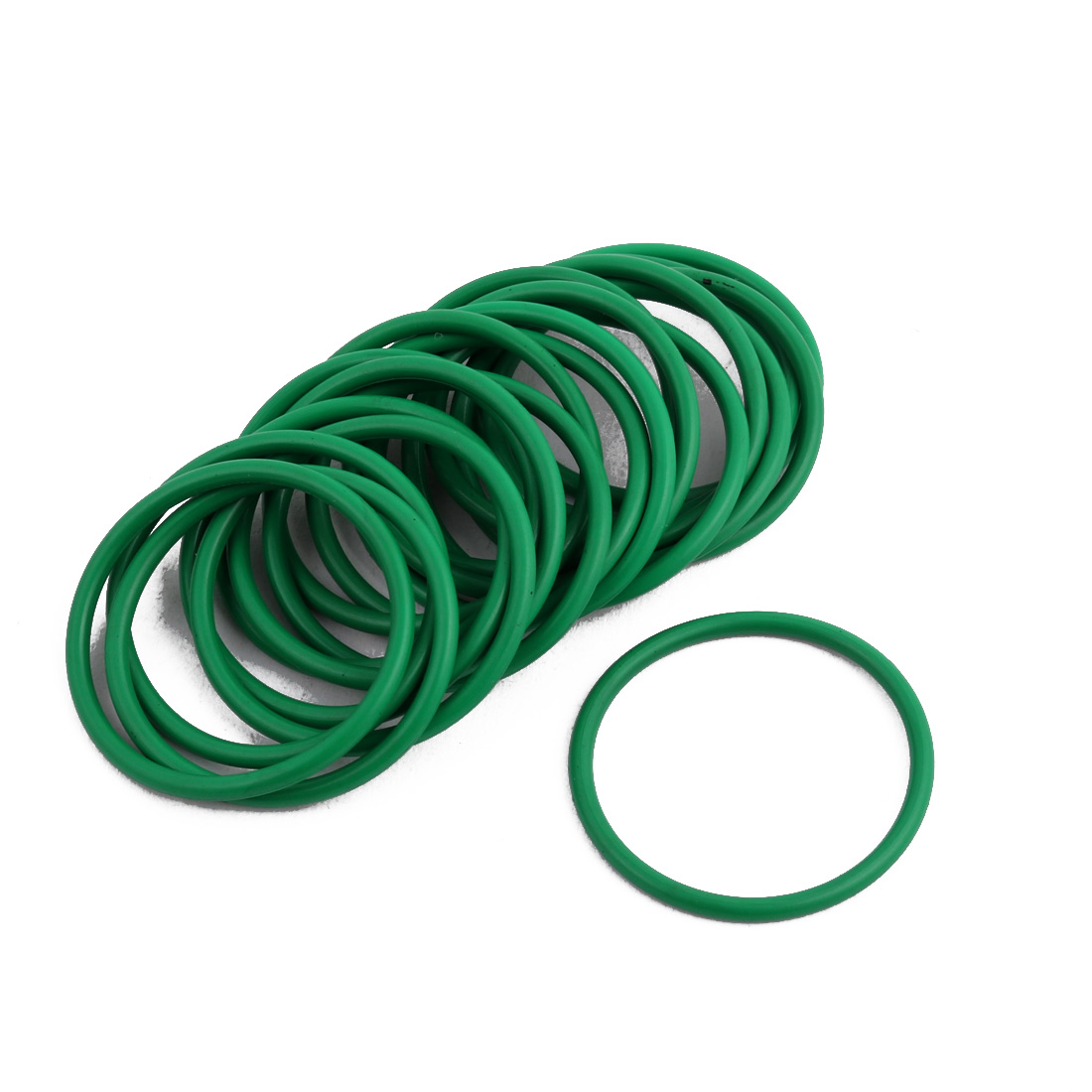 20 Pcs Green 30mm x 1.9mm NBR Oil Resistant Sealing Ring O-shape Grommets