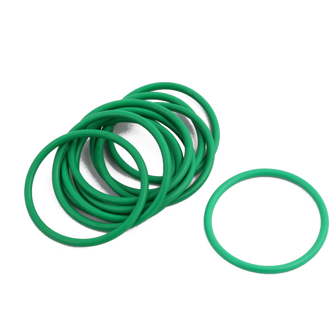 10Pcs Green 29 x 1.9mm Industrial Flexible Rubber O Ring Oil Sealing Grommets