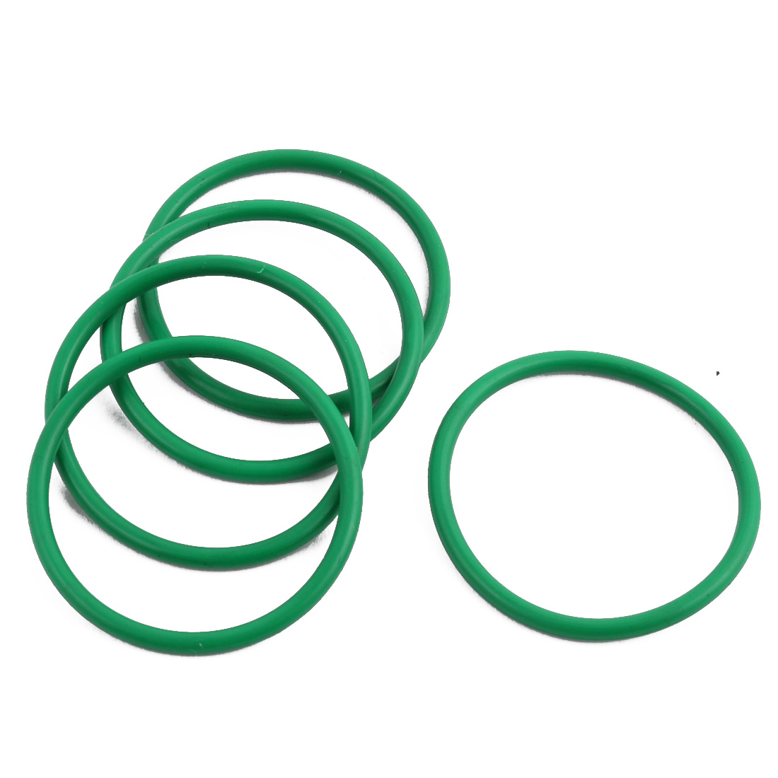 5Pcs Green 30 x 1.9mm Industrial Flexible Rubber O Ring Oil Sealing Grommets