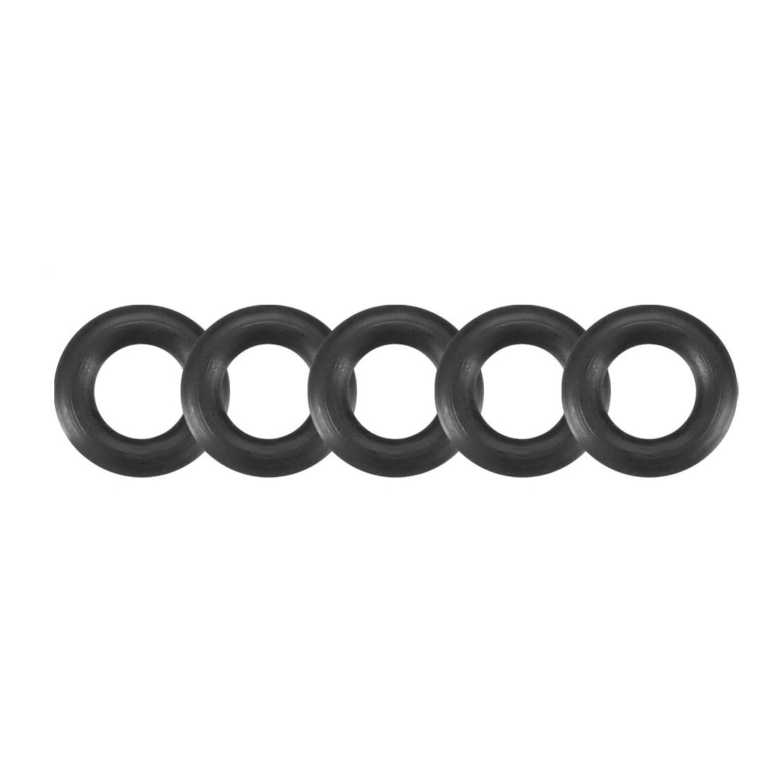 30 Pcs Black 8mm x 2mm Rubber Oil Resistant Sealing Ring O-shape Grommets