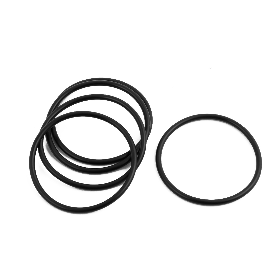 5Pcs Black 37mm Dia 2mm Thickness Nitrile Rubber O Ring NBR Sealing Grommets