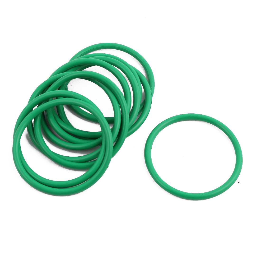 10Pcs Green 27 x 1.9mm Industrial Flexible Rubber O Ring Oil Sealing Grommets