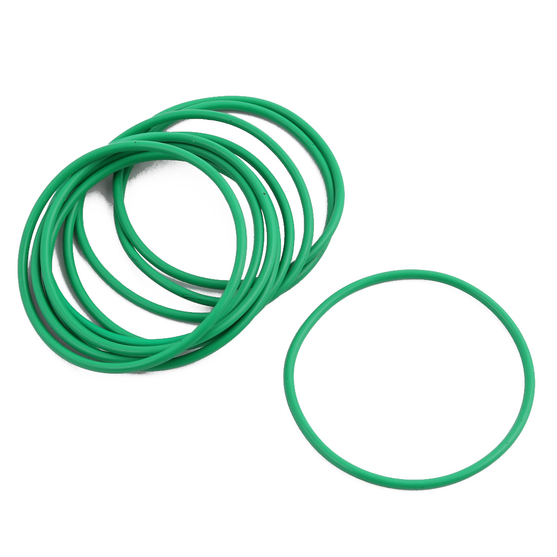 10Pcs Green 35 x 1.4mm Industrial Flexible Rubber O Ring Oil Sealing Grommets