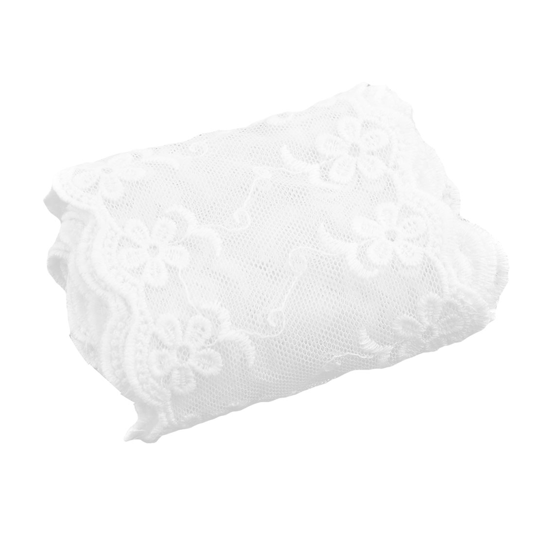 Family Cotton Blends Floral Decor Jacket Scarf Lace Trim Applique 3.1 Inches Width