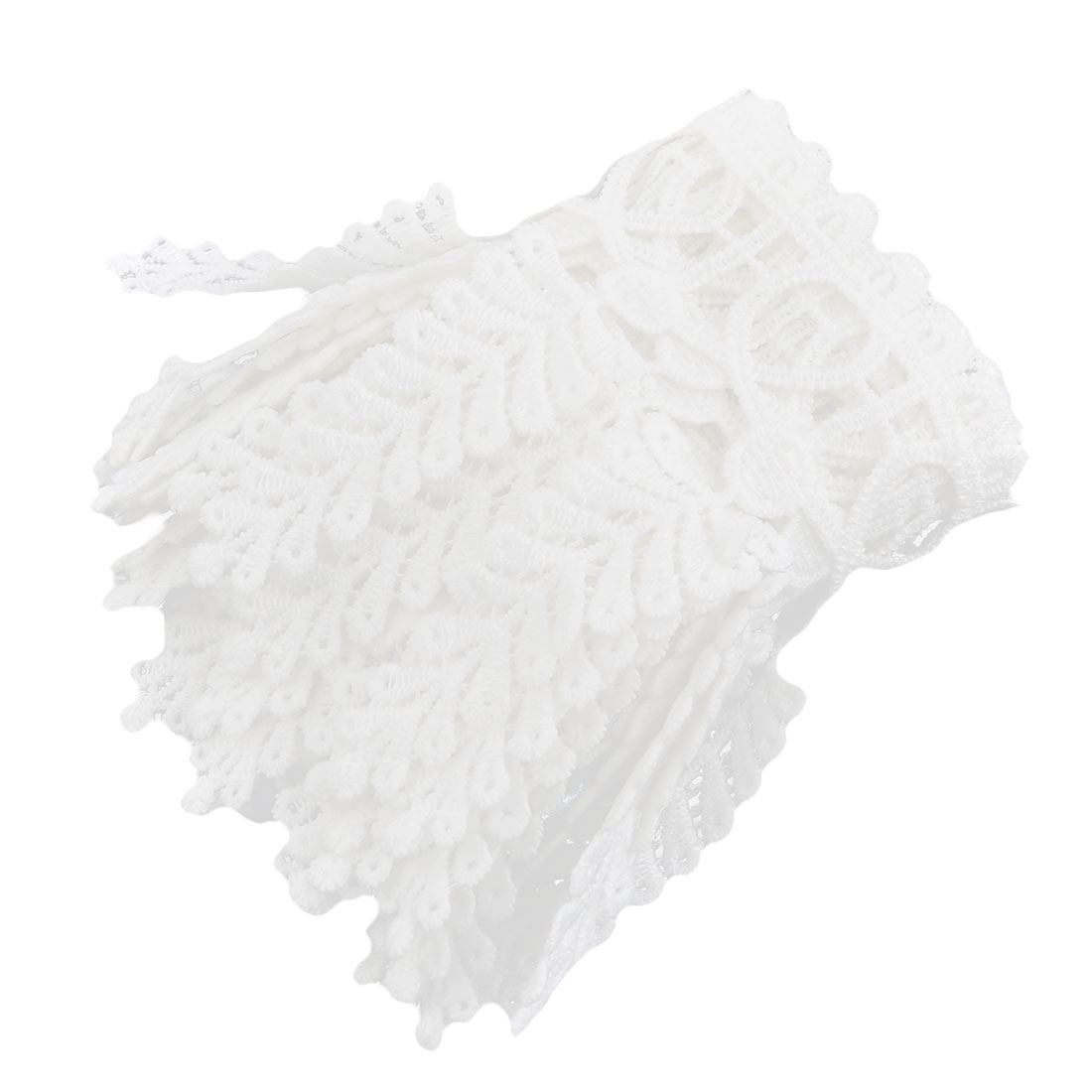 Polyester Leaves Decor DIY Bridal Dress Sewing Lace Trim Applique 3.5 Inches Width