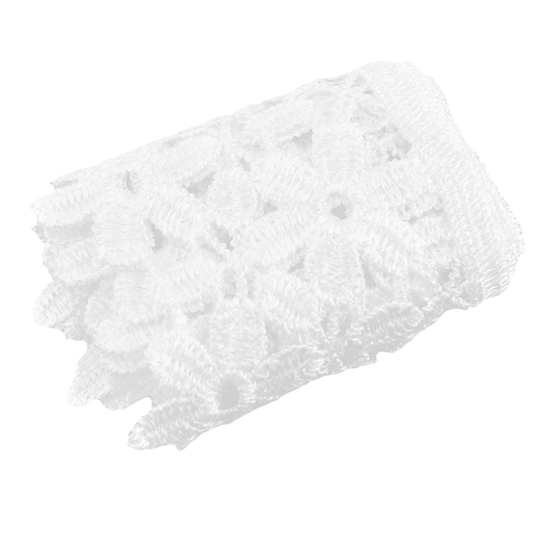 Polyester Floral Decor Sewing Embellishment Lace Trim Applique 3.1 Inches Width