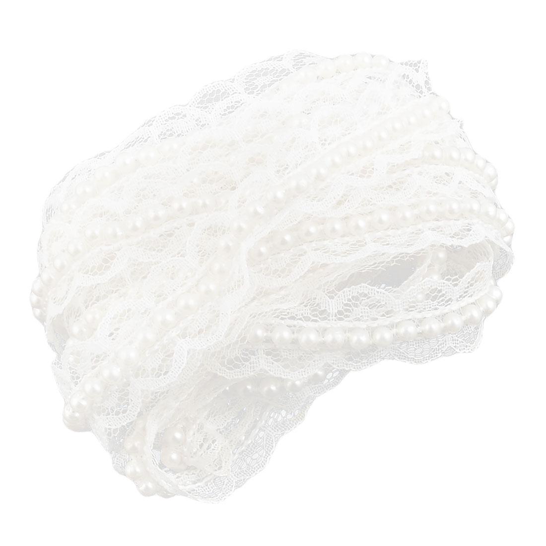 Polyester Neckline Bridal Dress Embellishment Lace Trim Applique Patch 2.2 Yards