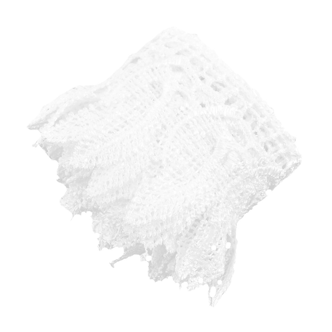 Polyester Tassel Decor Neckline Embellishment Lace Trim Applique 2.4 Inches Width