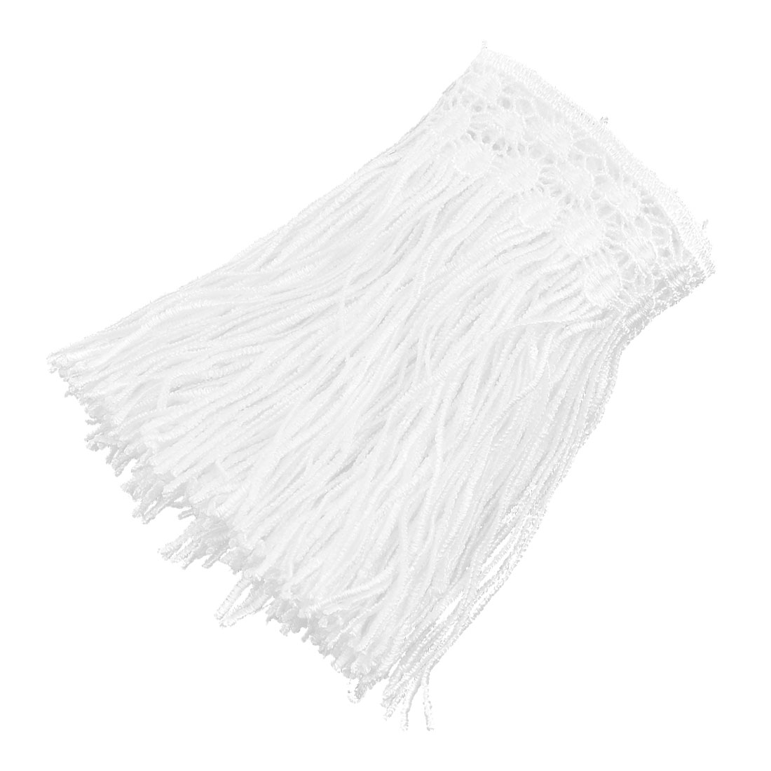 Polyester Tassel Decor DIY Clothes Embellishment Lace Trim Applique 5.1 Inches Width