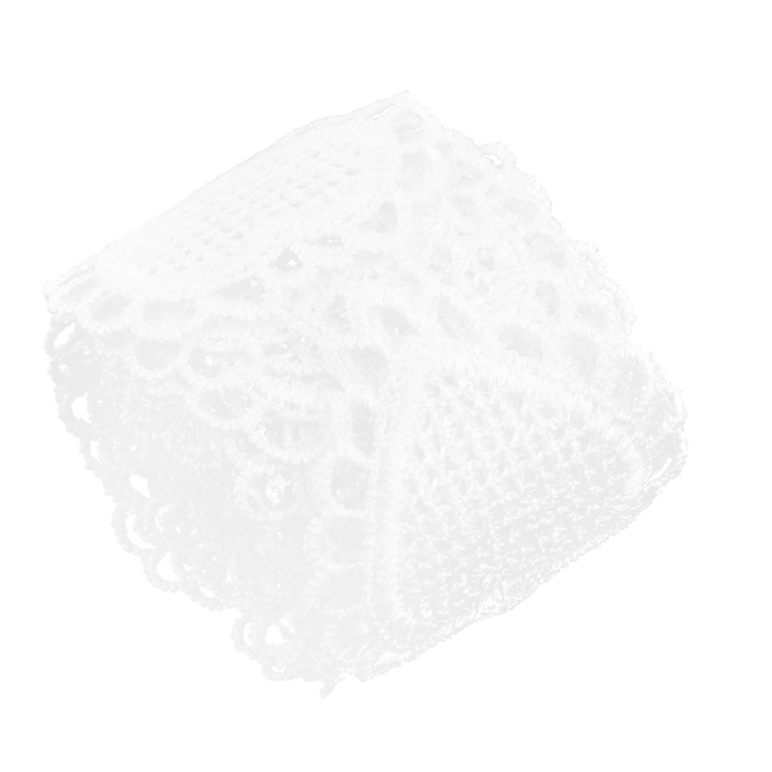 Household Polyester Heart Design Sewing Lace Trim Applique White 2 Inches Width