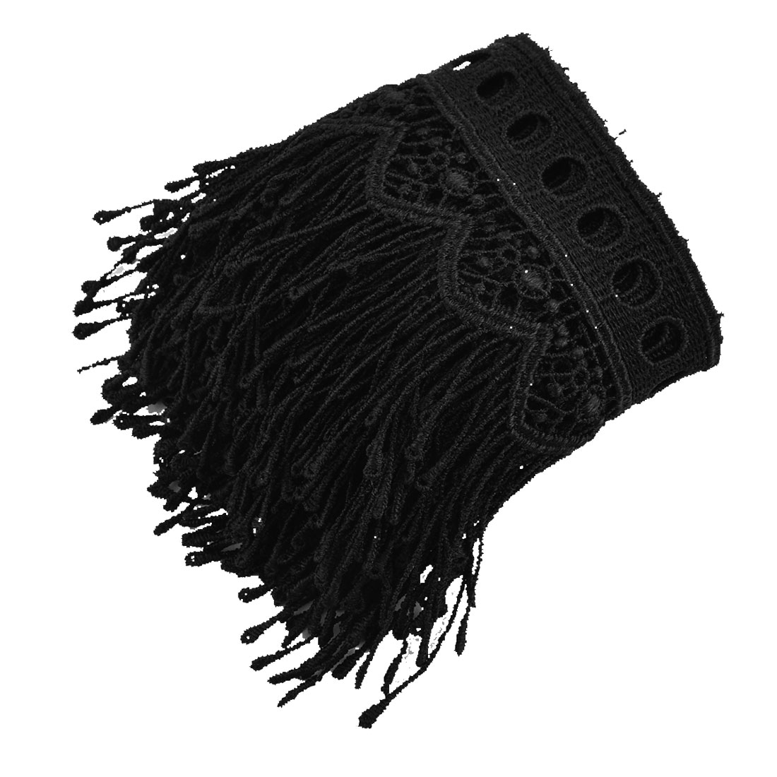 Wedding Polyester DIY Craft Tassels Sewing Lace Trim Applique Black 2.2 Yards