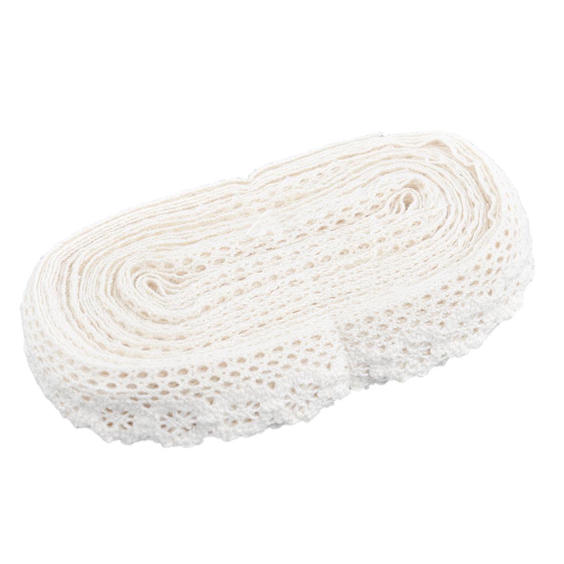 Home Cotton Blends DIY Handicraft Scrapbooking Decor Lace Trim Applique Beige