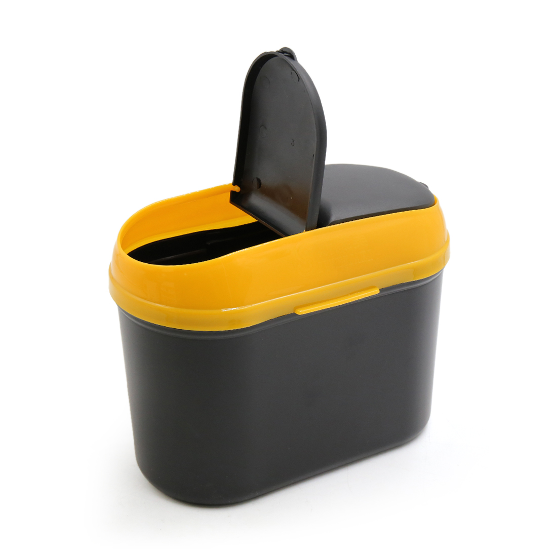 Yellow Black Car Trash Rubbish Can Garbage Dust Dustbin Box Case Holder Bin